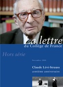 Hors-srie 2 | 2008 - Claude Lvi-Strauss, centime anniversaire - lettre CDF