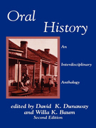 Oral History: An Interdisciplinary Anthology