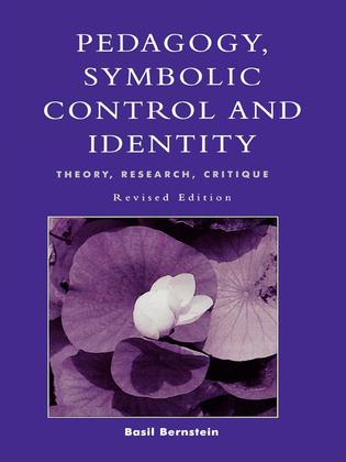 Pedagogy, Symbolic Control, and Identity