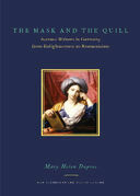 The Mask and the Quill: Actress-Writers in Germany from Enlightenment to Romanticism