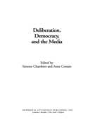 Deliberation, Democracy, and the Media