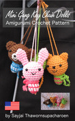Mini Gang Key Chain Dolls Amigurumi Crochet Pattern