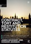 Contract, Tort and Restitution Statutes 2012-2013