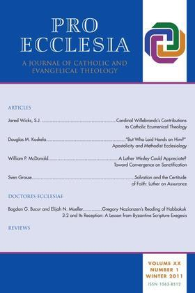 Pro Ecclesia Vol 20-N1: A Journal of Catholic and Evangelical Theology