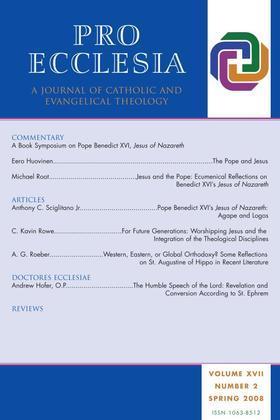 Pro Ecclesia Vol 17-N2: A Journal of Catholic and Evangelical Theology