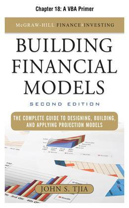Building Financial Models, Chapter 18 - A VBA Primer