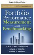 Portfolio Performance Measurement and Benchmarking: Market Timing