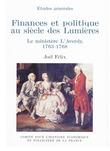 Finances et politique au siècle des Lumières