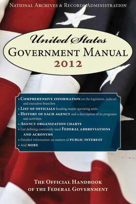 United States Government Manual 2012
