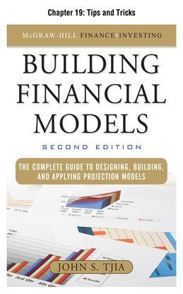 Building Financial Models, Chapter 19 - Tips and Tricks