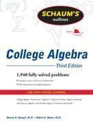 Schaum's Outline of College Algebra, Third Edition