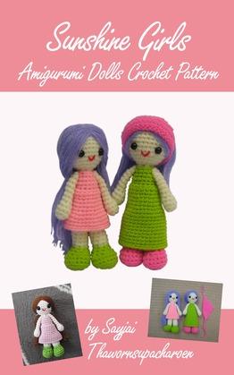 Sunshine Girls Amigurumi Dolls Crochet Pattern