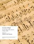 Lorenzo Allegri: Il primo libro delle musiche. . . (Venice, 1618)