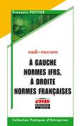 A gauche normes IFRS, à droite normes françaises