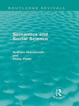 Semantics and Social Science (Routledge Revivlas)