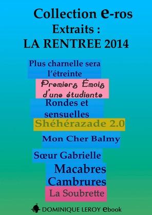 La Rentrée Littéraire 2014 Éditions Dominique Leroy - Extraits