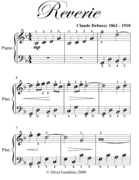 Reverie Easiest Piano Sheet Music
