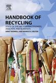 Handbook of Recycling: State-of-the-art for Practitioners, Analysts, and Scientists