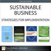 Sustainable Business: Strategies for Implementation (Collection)