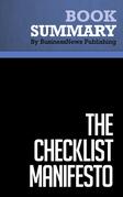 Summary: The Checklist Manifesto - Atul Gawande