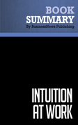 Summary: Intuition At Work - Gary Klein