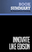 Summary: Innovate Like Edison - Michael Gelb and Sarah Caldicott