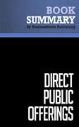 Summary: Direct Public-Offerings - Drew Field