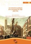 Les institutions publiques de la principauté de Liège (980-1794)