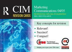 CIM Revision Cards: Marketing Communications 04/05