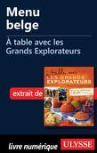 Menu belge - À table avec les Grands Explorateurs