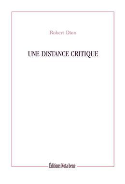 Une distance critique