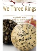 We Three Kings Pure Sheet Music for Piano and C Instrument, Arranged by Lars Christian Lundholm