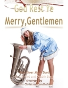 God Rest Ye Merry, Gentlemen Pure Sheet Music Duet for Clarinet and Double Bass, Arranged by Lars Christian Lundholm