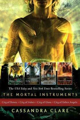 Cassandra Clare: The Mortal Instrument Series (4 books): City of Bones; City of Ashes; City of Glass; City of Fallen Angels