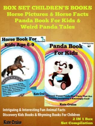 Box Set Children's Books: Horse Pictuers & Horse Facts - Panda Book For Kids & Weird Panda Tales: 2 In 1 Box Set Animal Discovery Books For Kids: Intr