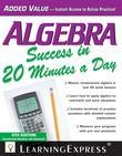 Algebra Success in 20 Minutes a Day, 5th Edition