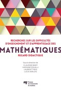 Recherches sur les difficultés d'enseignement et d'apprentissage des mathématiques