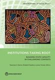 Institutions Taking Root: Building State Capacity in Challenging Contexts