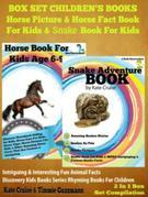 Box Set Children's Books: Horse Picture & Horse Fact Book For Kids & Snake Book For Kids: 2 In 1 Box Set: Intriguing & Interesting Fun Animal Facts -