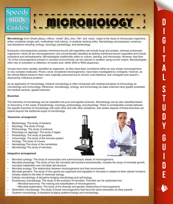 Microbiology: Speedy Study Guides