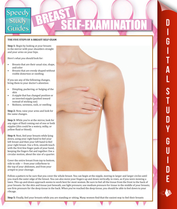 Breast Self-Examination: Speedy Study Guides