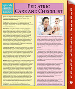 Pediatric Care and Checklist: Speedy Study Guides