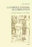 La Parole d'Adam, le corps d'Eve. Le péché originel au XVIe siècle