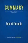 Summary: Secret Formula - Frederick Allen