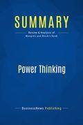 Summary: Power Thinking - John Mangieri and Cathy Block