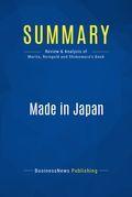 Summary: Made In Japan - Akio Morita, Edwin Reingold and Mitsuko Shimomura