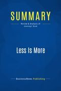 Summary: Less Is More - Jason Jennings