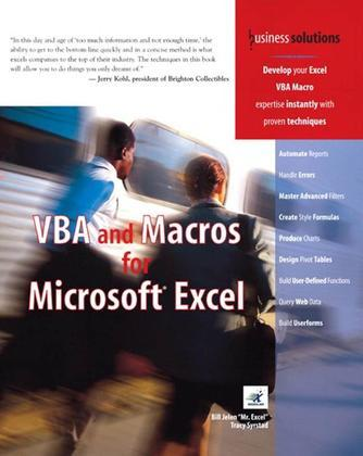 VBA and Macros for Microsoft Excel, Adobe Reader