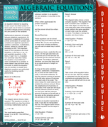 Algebraic Equations: Speedy Study Guides