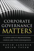 Corporate Governance Matters: A Closer Look at Organizational Choices and Their Consequences, Portable Documents